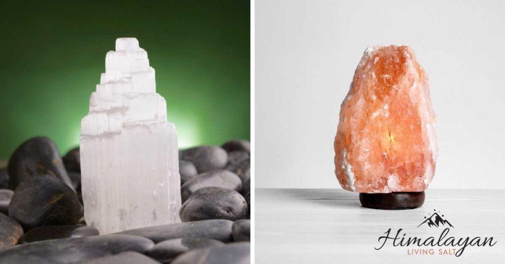 Selenite Lamp vs. Himalayan Salt Lamp